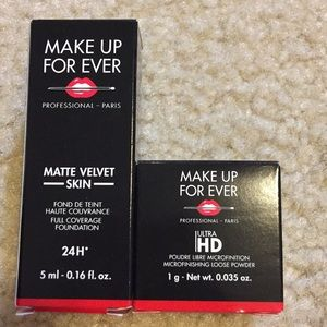 Makeup - Make Up Forever Foundation and Loose Powder